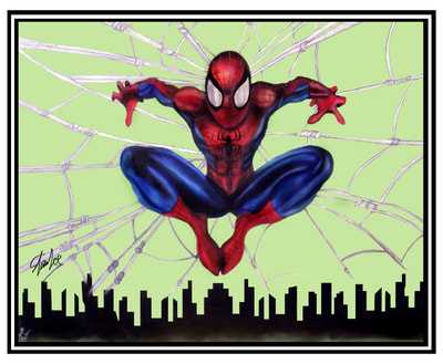 Autographed Spiderman Painting